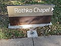 Rothko Chapel, Houston sign.JPG