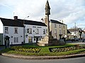 Roundabout and Green Dragon Inn, Overmonnow - geograph.org.uk - 670765.jpg