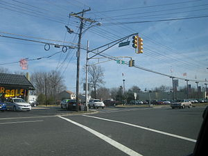 New Jersey Route 35 - Route 35 at the intersection of Clinton Avenue in Eatontown, New Jersey.