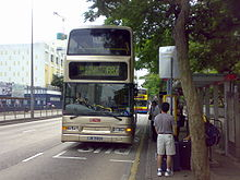 double-decker bus at a bus stop