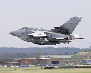 RAF Marham - An RAF Tornado GR4 taking off from RAF Marham.