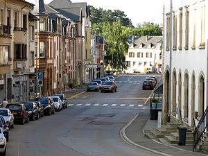 Mersch - Image: Rue Grande Duchesse Charlotte zu Miersch