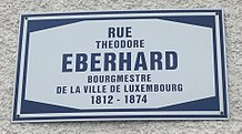 Rue Theodore Eberhard in Luxembourg-City (sign).jpg