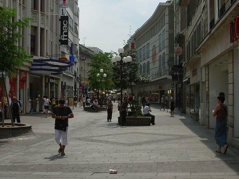 Rue du Sauvage, Mulhouse, Alsace, France