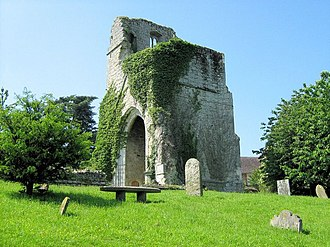Little Chart - The ruined church of St Mary the Virgin; destroyed in 1944 by a V1 flying bomb.