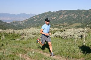 A ultramarathoner running the 32 Mile Wyoming ...
