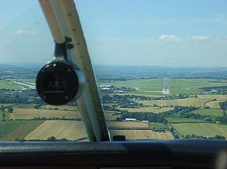 MoD Lyneham - MoD Lyneham viewed on approach