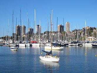 Sailing at the 2000 Summer Olympics - Image: Rushcutters Bay