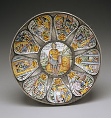 Russian - Bowl with Judah and Lion Surrounded by Scened from the Book of Esther - Walters 4446.jpg