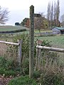 Rustic sign on bridleway between Milford and Brocton - geograph.org.uk - 1036589.jpg