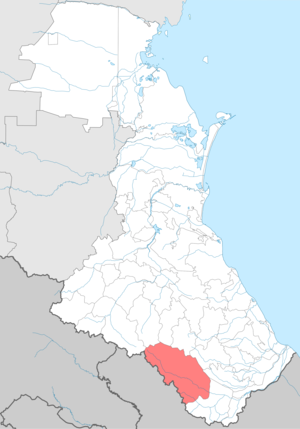 Rutulsky District - Image: Rutulsky district locator map