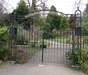 Gates to the Botanic Gardens, Royal Victoria P...