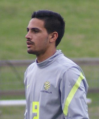 Ryan Edwards (Australian footballer) - Edwards playing for the Young Socceroos in 2013