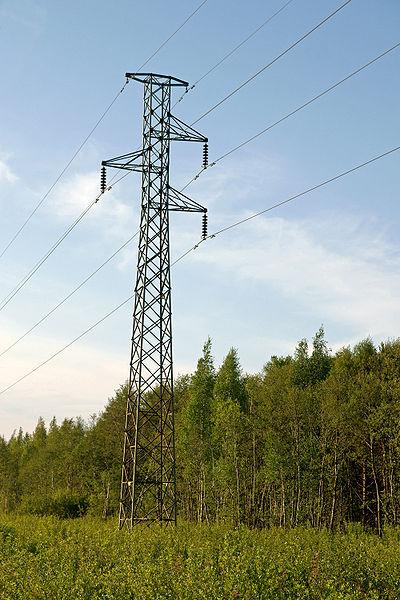 prąd - słup elektryczny