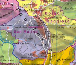 City Of San Marino Wikipedia - San marino map download