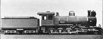 South African type XF tender - Type XF tender (6 LT) on CSAR Class 8-L2