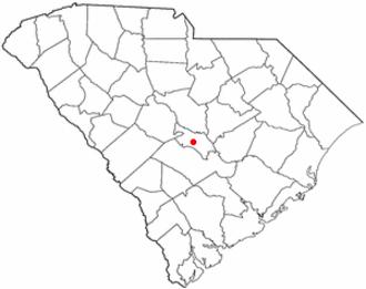 St. Matthews, South Carolina - Image: SC Map doton St Matthews