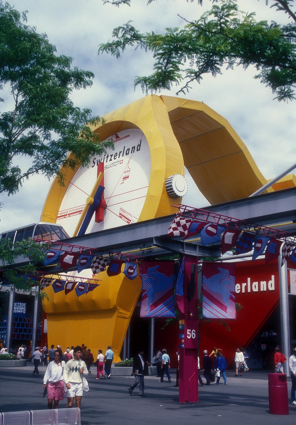 SWITZERLAND PAVILION AT EXPO 86, VANCOUVER, B.C.