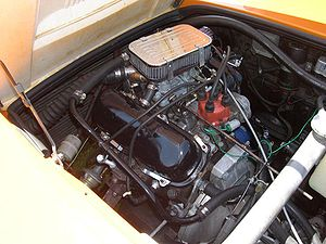 V4 engine - Ford Taunus V4 engine in Saab Sonett III.