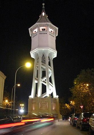 Sabadell - Torre de l'Aigua at night