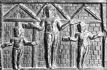 La formella nella Basilica di Santa Sabina a Roma è una antica rappresentazione della crocifissione di Gesù.