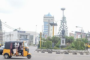 Yaba, Lagos - Image: Sabo Round about at Yaba
