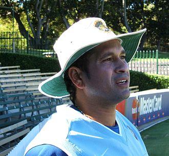 2003 Cricket World Cup Final - Image: Sachin Tendulkar