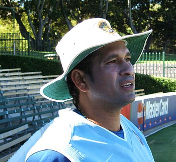 English: Sachin Tendulkar at Adelaide Oval