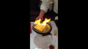Fil:Saganaki at the Parthenon Restaurant in Chicago.MOV.webm