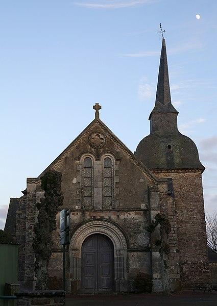 Église Saint-Malo de Saint-Malon-sur-Mel.