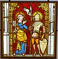 Saint Peter and Saint Gereon, Köln, c. 1350, stained and painted glass - Hessisches Landesmuseum Darmstadt - Darmstadt, Germany - DSC00168.jpg