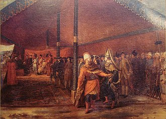 François-Emmanuel Guignard, comte de Saint-Priest - M. de Saint-Priest with the Grand Vizier at the camp of Daud Pasha in 1769, by Antoine de Favray.
