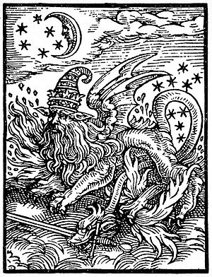 Salamanders in folklore and legend - Sixteenth-century woodcut questionably identified as a depiction of a salamander by Manly P. Hall
