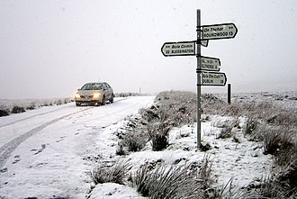 R115 road (Ireland) - Military Road joins the R759 at Sally Gap