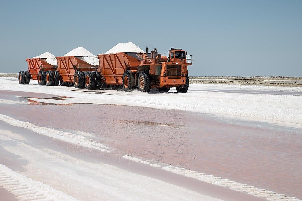 Salt production in Guerrero Negro.