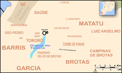 Mapa do Dique do Tororó