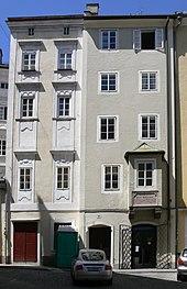 Wohn- und Sterbehaus Paul Hofhaimers, Pfeifergasse 18, Salzburg (Quelle: Wikimedia)