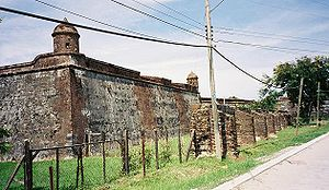 Captaincy General of Guatemala - The Fort of San Fernando Omoa. Built by the Spaniards to defend against pirates.