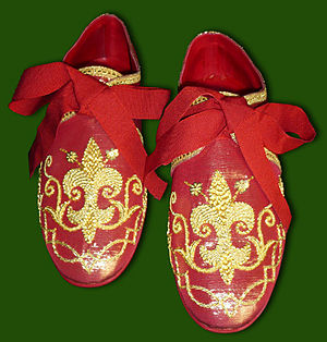 Pontifical vestments - Pontifical sandals