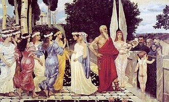Hans Sandreuter - At Heaven's Gate (1894)