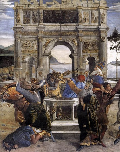 File:Sandro Botticelli - The Punishment of Korah and the Stoning of Moses and Aaron (detail) - WGA2748.jpg
