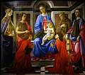 Sandro Botticelli Madonna and Child with Six Saints 01.jpg