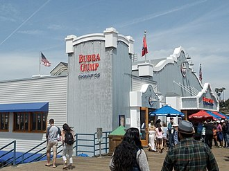 Bubba Gump Shrimp Company - The Bubba Gump Shrimp Co. restaurant on the Santa Monica Pier.