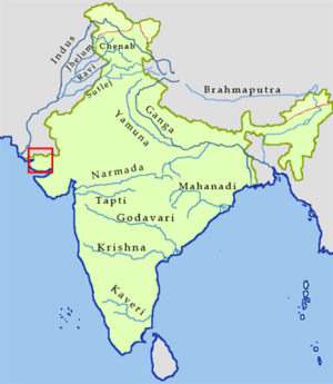 Sarasvati river in India.png