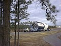 Saturn V S-IC-T Stage Heads to Test Stand.jpg