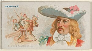 Richard Sawkins - Image: Sawkins, Boarding Peralta's Ship, from the Pirates of the Spanish Main series (N19) for Allen & Ginter Cigarettes MET DP835017