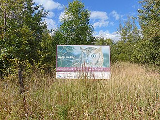Rouge National Urban Park - Billboard advertising the creation of the Rouge National Urban Park.