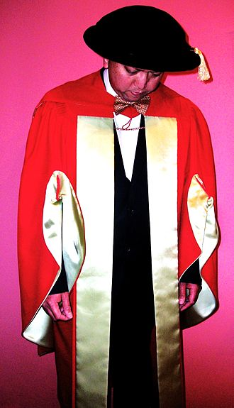 Academic dress of McGill University - McGill's scarlet, Ph.D. regalia dates back to the early 19th century