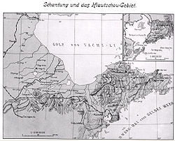 Map of the Kiautschou Bay Leased Territory
