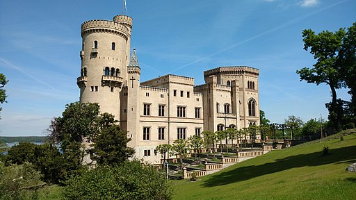 Schloss Babelsberg Rueckseite 20170517